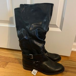 NWT! Rialto black vegan leather boots- size 10 WC